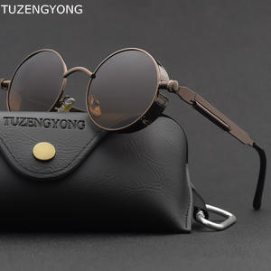 TUZENGYONG Polarized Men Women Vintage Round Sun Glasses