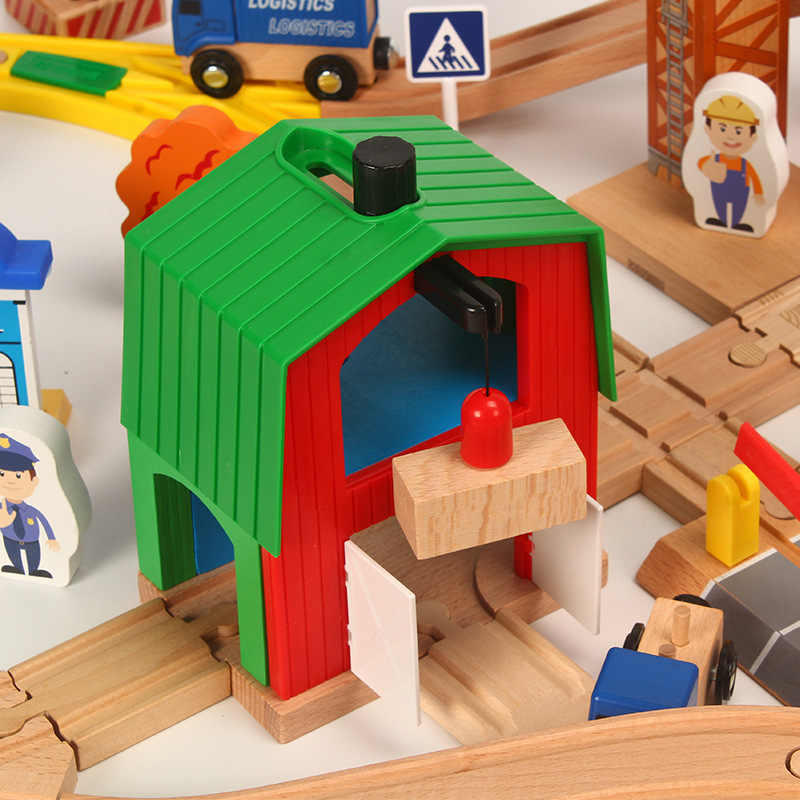 Деревянная железная дорога набор Детская деревянная железная дорога головоломка слот транзитная деревянная томанская дорожка железнодорожная железная дорога игрушки для детей