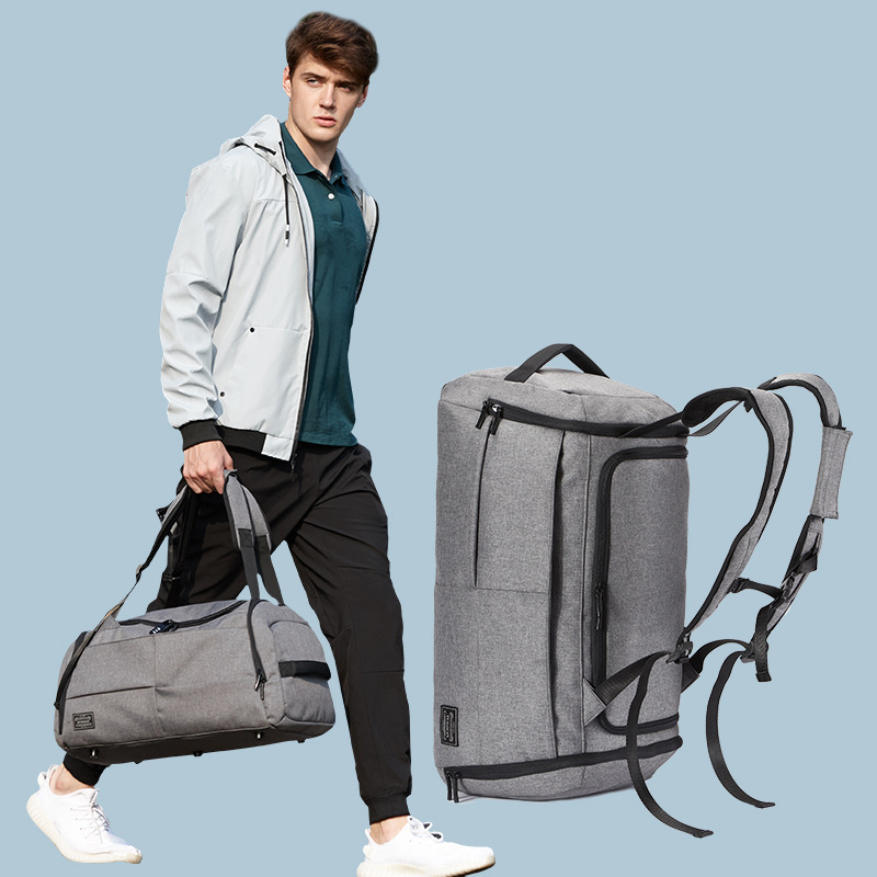 Hot Sale Terylene Men Sport Fitness Bag Multifunction Tote Gym Bags For Shoes Storage Outdoor  Travel Anti-Theft Backpack temena large capacity outdoor sports bag for men new brand pu tote duffel bag multifunction travel sports gym fitness bag ac12