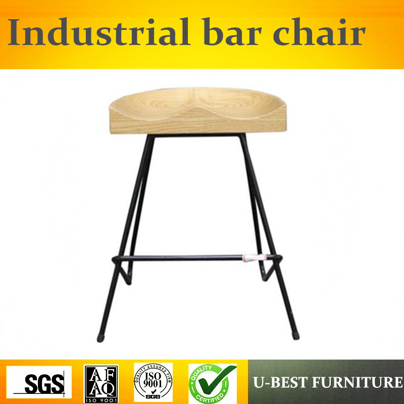 Free Shipping U-BEST The Bar Chair, Bar Chair Stool, Personality Of Modern Minimalist Industrial Iron Coffee Chair