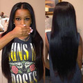 7A Unprocessed Brazilian Virgin Human Hair Lace Front Wig Straight Hair Glueless Full Lace Wig With Baby Hair For Black Women