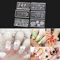 6 шт. Мода Прочный 3D Акриловые Форма для Nail Art Украшения DIY Дизайн Силиконовые Nail Art Шаблоны Шаблон маникюрный салон