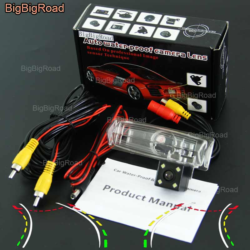 BigBigRoad Car Intelligent Dynamic Track Rear View Camera For Mitsubishi Grandis / toyota vios Yaris Sedan Camry Aurion Belta колье belta d238 b