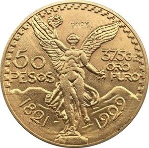1929 Мехико 50 песо Монеты Копировать 37 мм