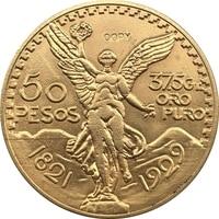 1929 Mexico 50 Pesos coins COPY 37mm