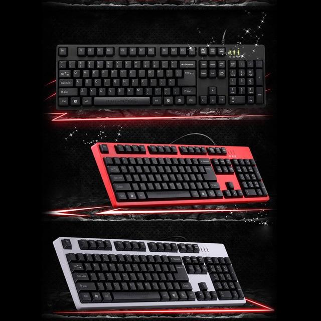 MOTOSPEED 104 Professional Gaming Esport Keyboard Tactile Keycaps USB Wired Mechanical Gaming Keyboard for PC Laptop Desktop