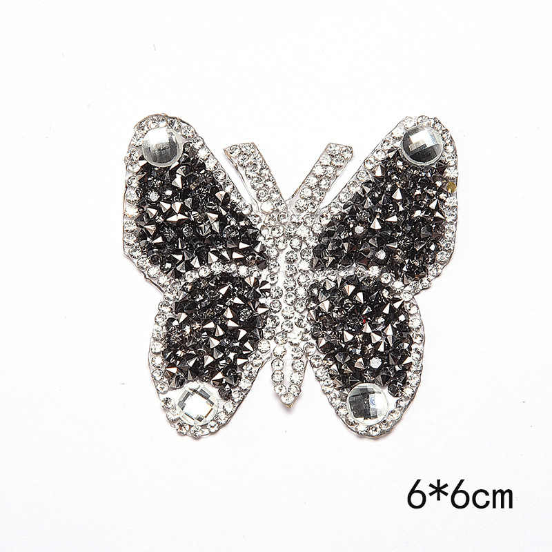 ... New Crystal Rhinestone Butterfly Patches for Clothing Iron on Clothes  Appliques Badge Stripes Fabric Sticker Apparel ... 72c953f62ca5