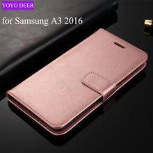 Для Samsung Galaxy A3 2016 чехол люкс PU кожа задняя крышка телефона чехол для Samsung Galaxy A3 2016 A310 случае флип защитный