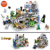 1000Pcs Compatible Legoings My world Mechanism Cave 2 IN 1 Set Minecrafted Dragon Figures Building Blocks Children Toys Boy Gift
