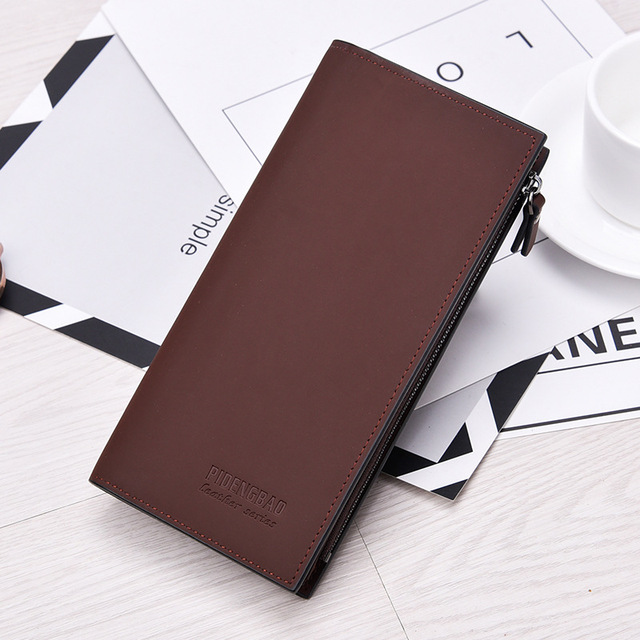 nuovo stile fd488 2ccbf US $8.99 40% di SCONTO|PIDENGBAO di Marca Stile Europeo Zipper Portafogli  In Pelle di Alta Uomo Grande Capacità Borsa Del Portafoglio con Tasca Del  ...