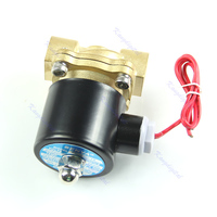 AC 220V Brass 1 2 Electric Solenoid Valve Water Air Fuels Gas Normal Closed MY11 10