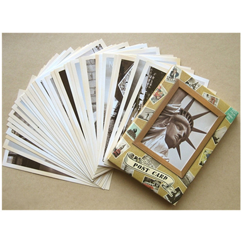 32 Pcs/lot Classical Famous Europe Building Postcard Vintage Style Envelope Paper Letter Pad Greeting Card Gifts Free Shipping