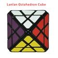 Marca Nueva Lanlan 8-Axis Octaedro Magic Speed Puzzle Cubo Blanco/Negro/Stickerless Cubo Mágico Giro Juguetes Educativos Especiales