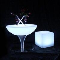 16 видов цветов Изменение освещения светодиодные панели мебель светящегося светящиеся Кофе бар стол для внутреннего SK LF18 (D66 * H58cm) 2 шт./лот