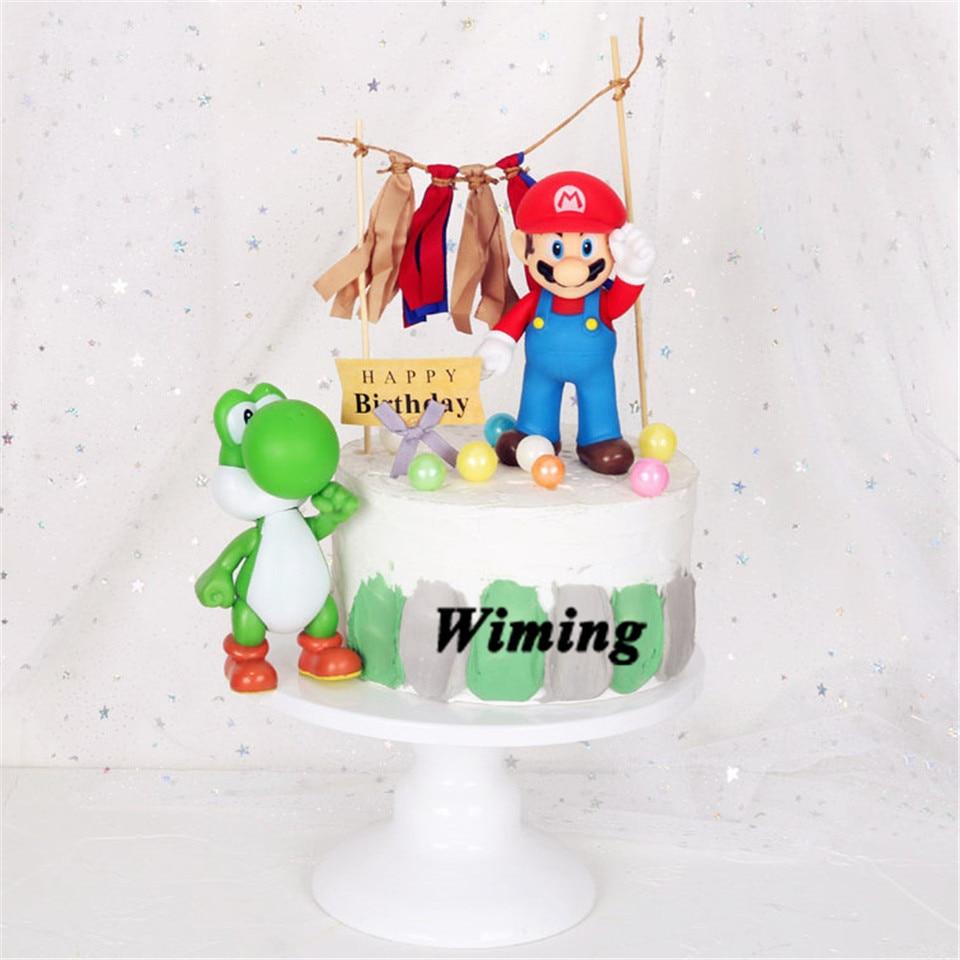 Superb Super Mario Bros Toys Cake Topper Birthday Cake Decorating Funny Birthday Cards Online Kookostrdamsfinfo