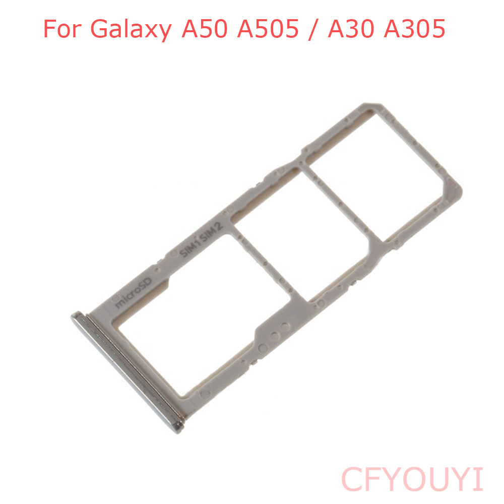 New For Samsung Galaxy A50 A505 / A30 A305 Dual SIM Tray Micro SD Card Tray Holder Slot Replacement
