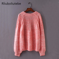 Women Back Lace Up Wool Mohair Sweater Loose Pullover Knitted Sweater Dropped Shoulder Casual Winter Autumn Spring Jumper