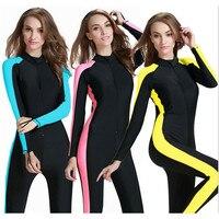 UPF 50+ Women wetsuit Plus Size Surf Suit Full Body Swimwear Surf Protect Dry Suit Skin Suit Wet Suit Swimming