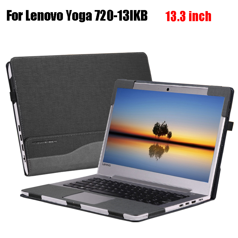Creative Design Cover for Lenovo Yoga 720 720-13 13.3 Inch Protective Sleeve PU Leather Laptop Case Stand Cover 13 inch laptop keyboard cover