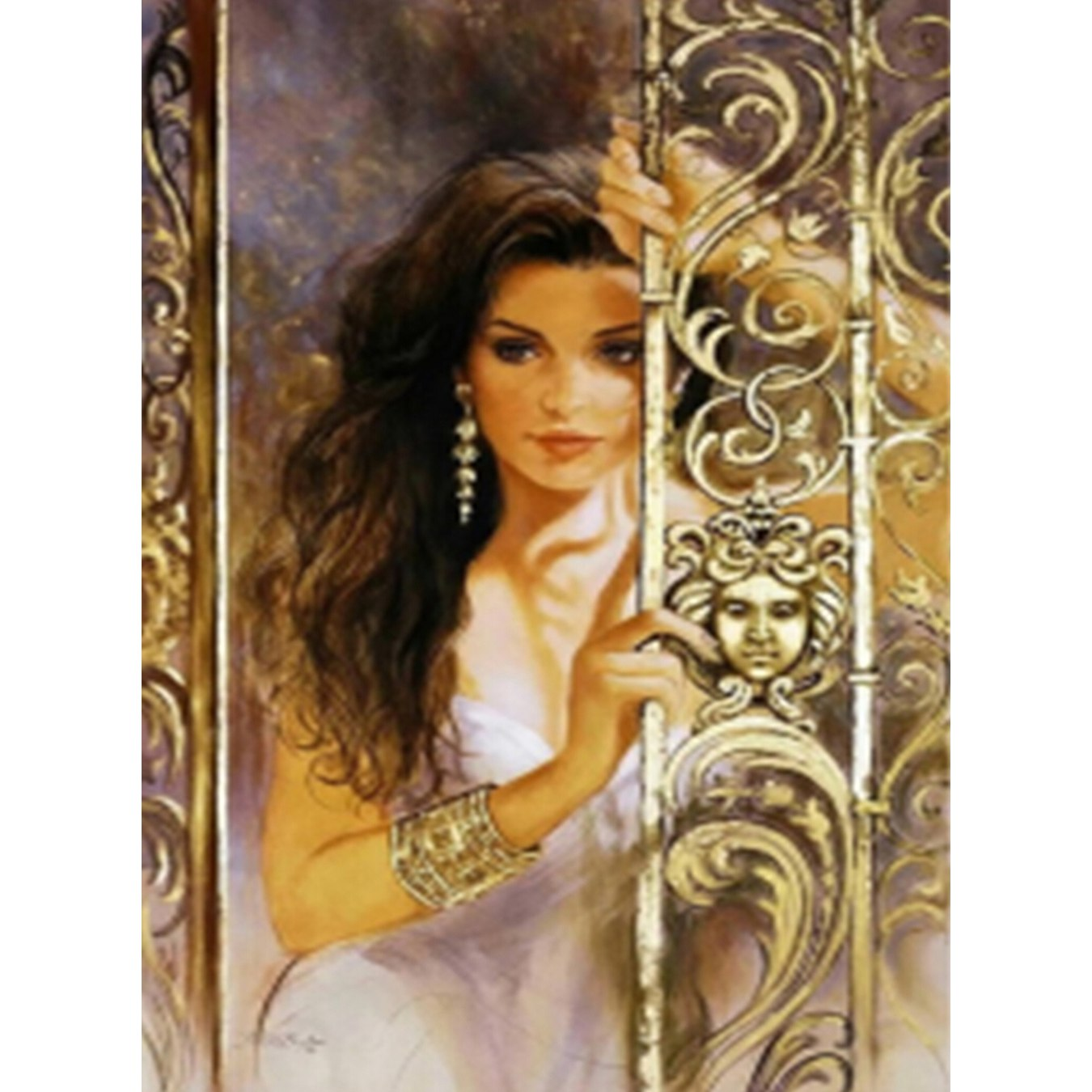YTG Needlework Embroidery Beautiful Lady New Full 5D DIY Diamond Painting Cross Stitch Round Rhinestone Room Decor Gift