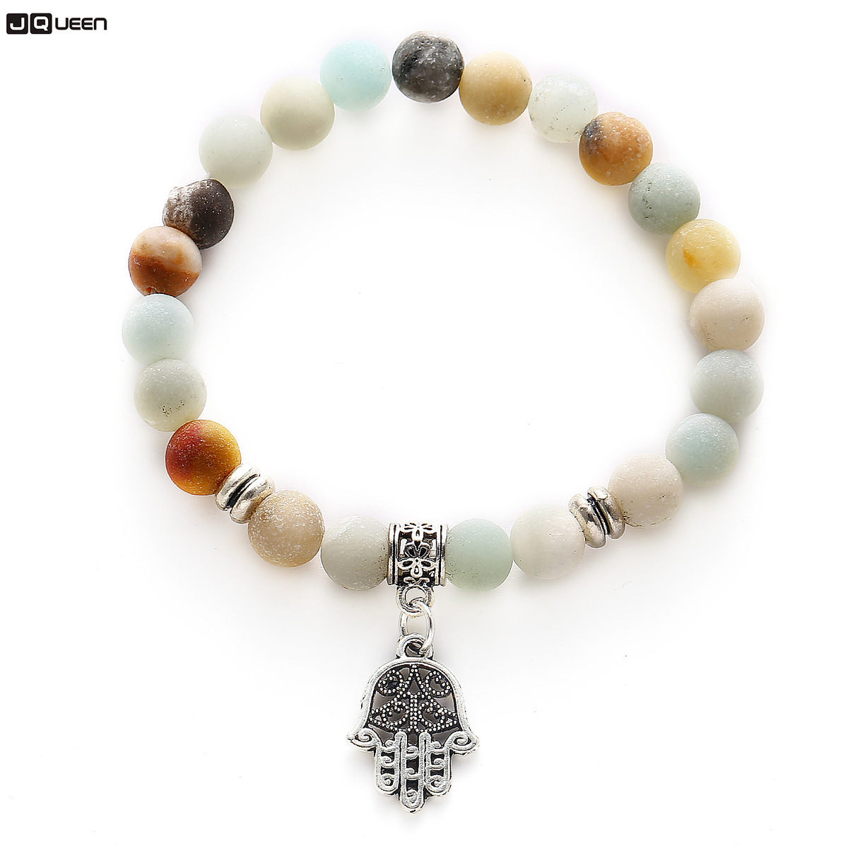 New Colorful Natural Stone Beads Bracelets & Bangles Jewellery Palm Charm Bracelets For Women