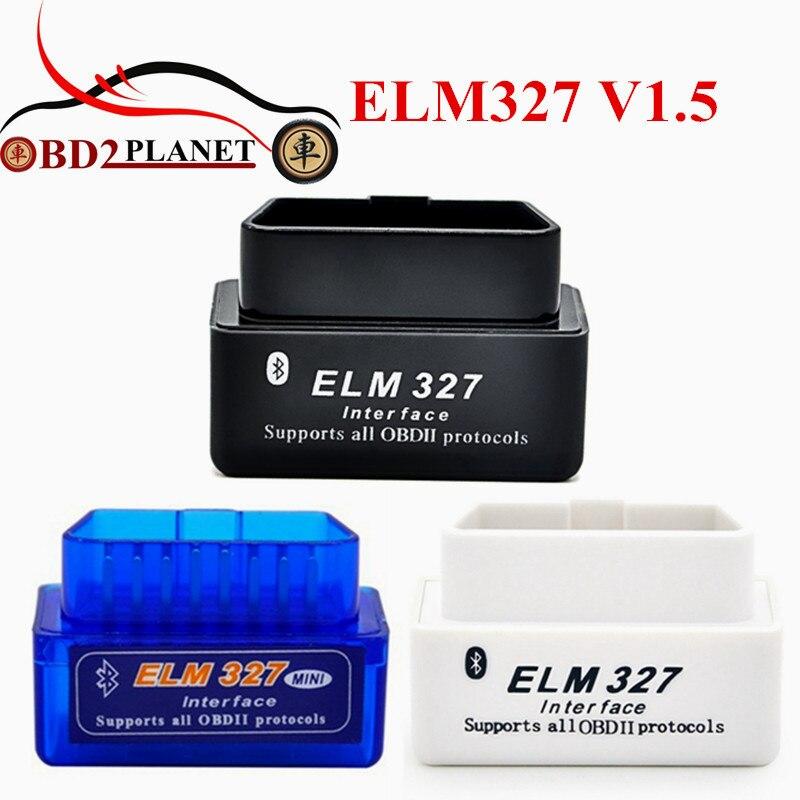 2017 di Alta Qualità Firmware V1.5 MINI Bluetooth ELM327 V1.5 OBD2 ELM327 Bluetooth Con Supporto di Chip PIC18F25K80 Android Torque