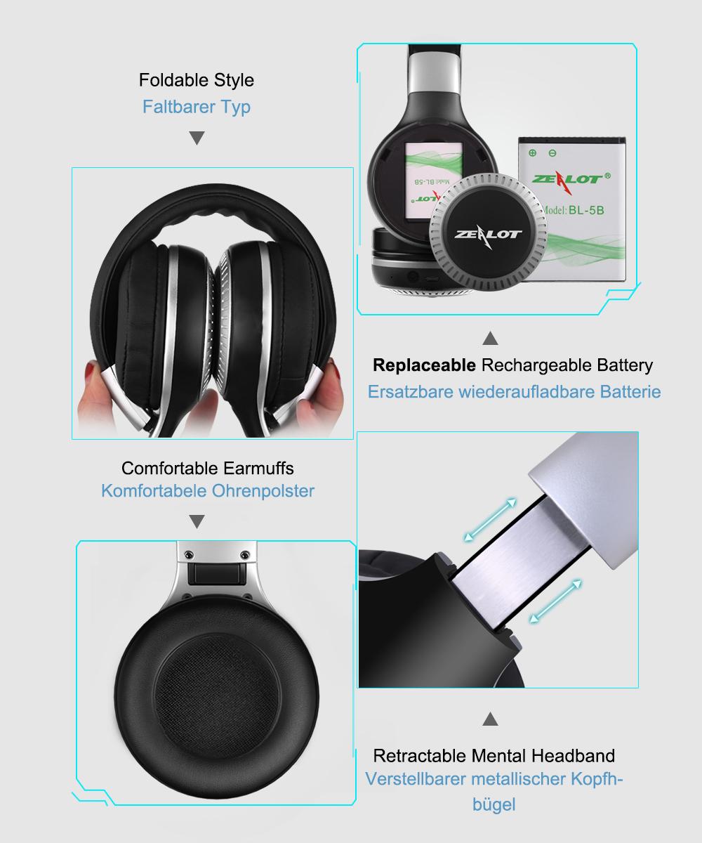 Zealot B20 Wireless Bluetooth Headphone Portable-6