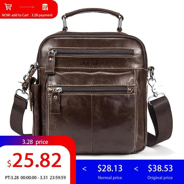 9e41c04c3934 US $28.13 27% OFF|OGRAFF Men's Bag Leather Handbag Men Genuine Leather  Shoulder Messenger Bag Crossbody Travel Bag Designer Handbags High  Quality-in ...