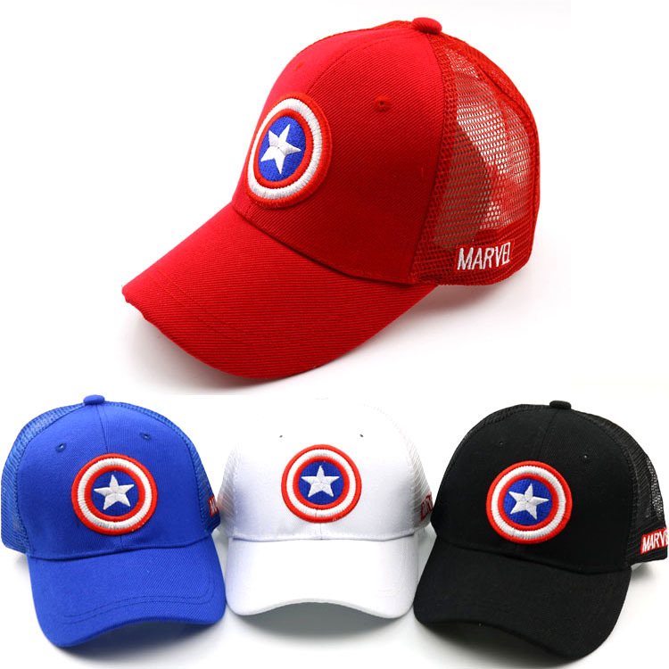 2019 Spring and summer new children's hats Solid color duck tongue net mesh baby hat boy and girl baseball caps kids Snapback