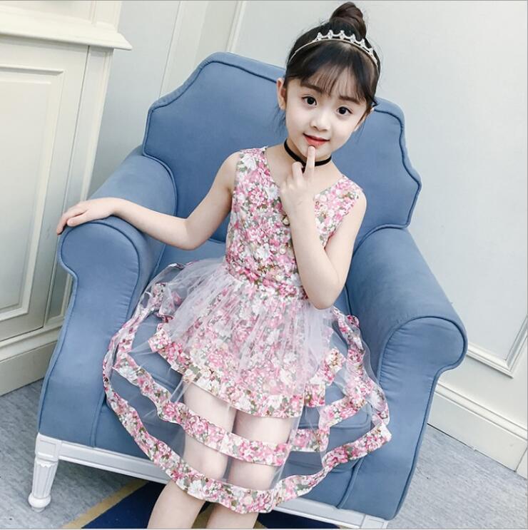 Girls Dresses Summer 2018 Children Dress Princess Costume Mode Stripe Print Pattern Kids Dresses for Girls Clothes