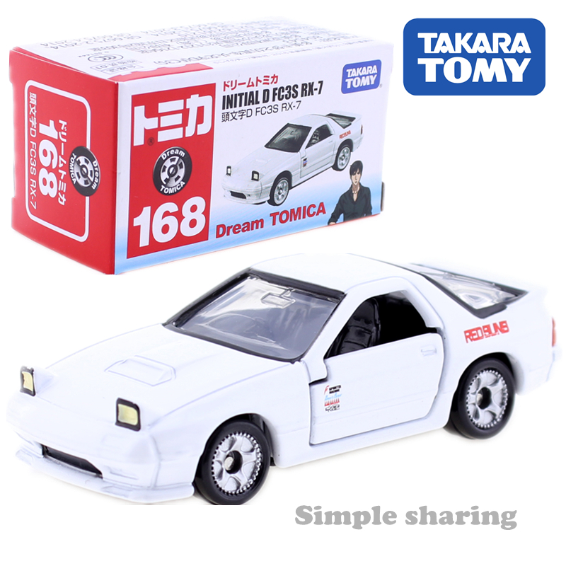 Takara Tomy Dream Tomica No.168 Initial D FC3S RX 7 MAZDA CAR Toy Diecast Miniature Baby Toys Model Kit Collectibles Pop Bauble