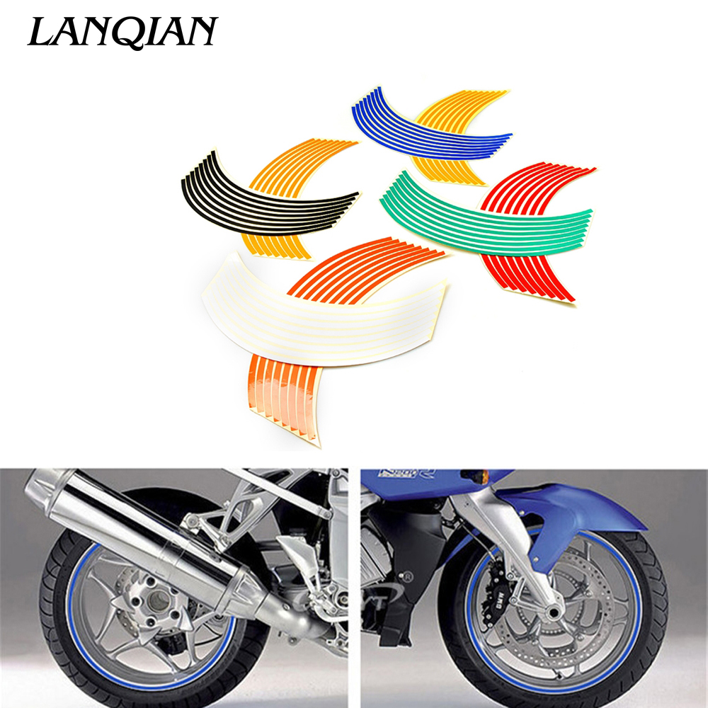 17inch/18inch <font><b>wheel</b></font> Strips Motorcycle Reflective <font><b>Wheel</b></font> <font><b>Sticker</b></font> For <font><b>YAMAHA</b></font> <font><b>R6</b></font> 2004 2005 2006 KAWASAKI Z1000 Z800 Z750 image