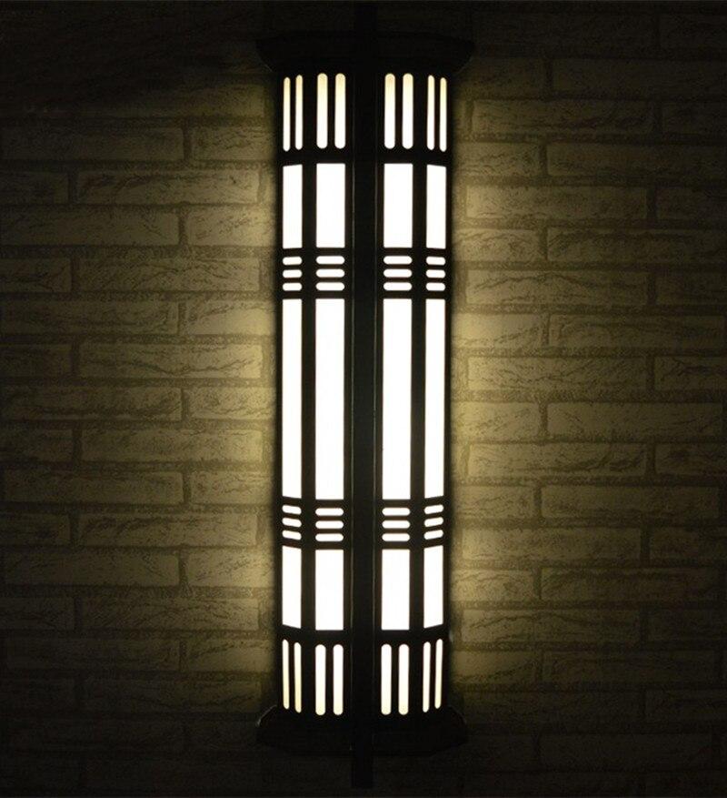Вертикальный крыльцо лампа наружного освещения большой tall T5/E27 двор бра путь Водонепроницаемый освещения пейзаж сада свет