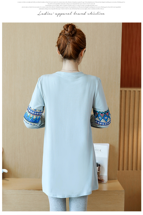 Fashion Loose Cartoon Print Long sleeve Maternity Dresses 2019 Autumn New Korean Pregnancy Clothes for Pregnant Women QL8827 in Dresses from Mother Kids