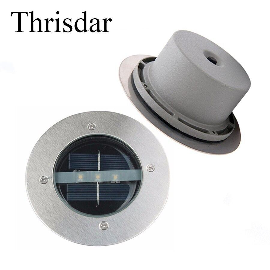 Thrisdar 5 шт. Солнечный сад подземный похоронен свет 3 светодиода IP65 Водонепроницаемы ...