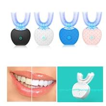 цена на Ultrasonic Adult Cold Light Oral Teeth U-shaped toothbrush USB Lazy Automatic Foaming Orrigator Teeth Cleaning Whitening Care