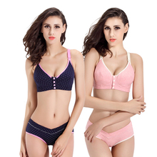 Bra+Panties Set Cotton Pregnant Brassieres Maternity Pregnancy Breast Feeding Bras For Women Panties Underwear Mother Clothes cheap Nursing Maternity Front Closure Adjusted-straps Convertible Straps PUB s02 Wire Free Natural Color SLAIXIU Purple Navy Pink Skin Gray