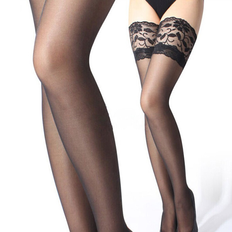 Sexy Pantyhose Stockings Women Ladies Sexy Lace Top Long Stay Up Thigh High Stockings Pantyhose in Stockings from Underwear Sleepwears