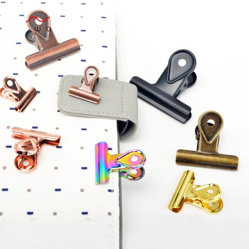 Retro Bronze Black Matte Metal Dovetail Clips Chancery Paper Documents Organizer Binder Clip School Office Storage Accessories