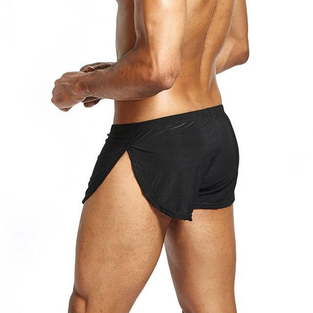Homens Boxer Shorts Cintura Baixa Respirável Casual Cool Presente Para Namorado Cor Sólida Esporte NYZ Loja