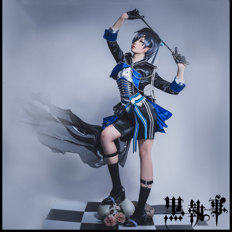 Athemis Ciel Phantomhive Cosplay Costume Black Butler custom made Full dress High Quality