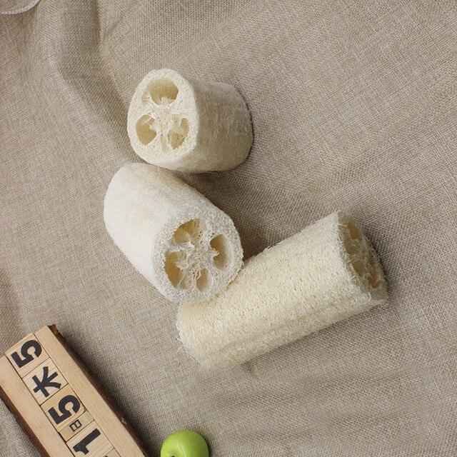 Натуральная здоровая мочалка из люфы для мытья душа горшок для тела чаша губка скребок для СПА Аксессуары для ванной комнаты для тела для душа Губка скруббер