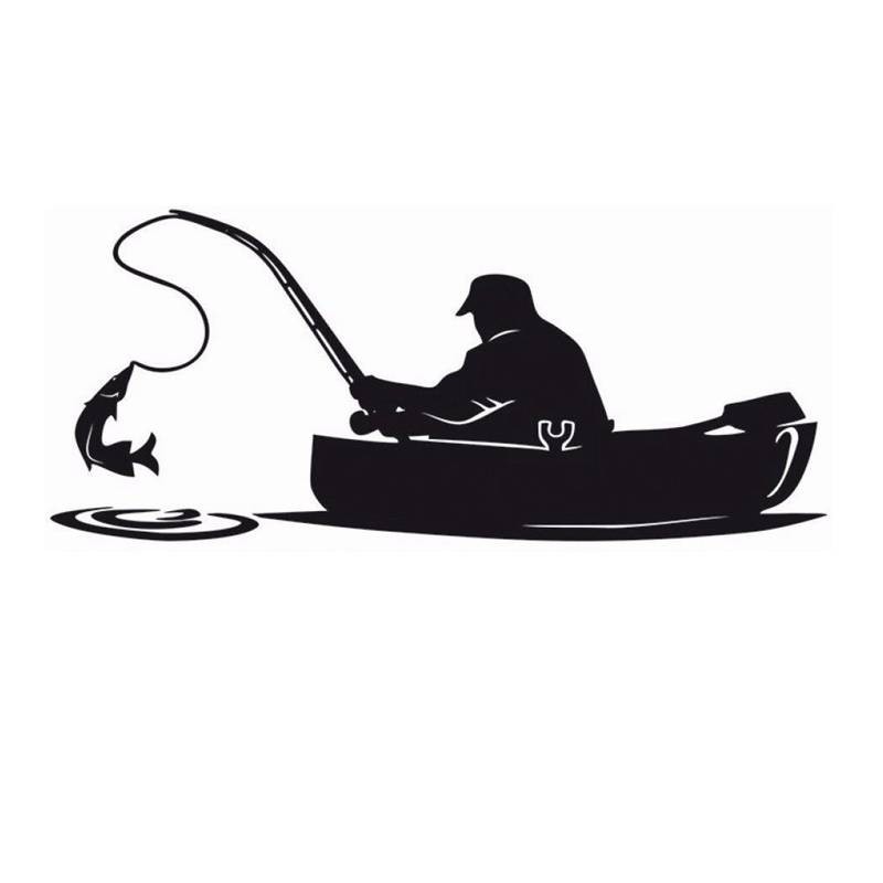 fishing sticker name fish boat decal angling hooks tackle