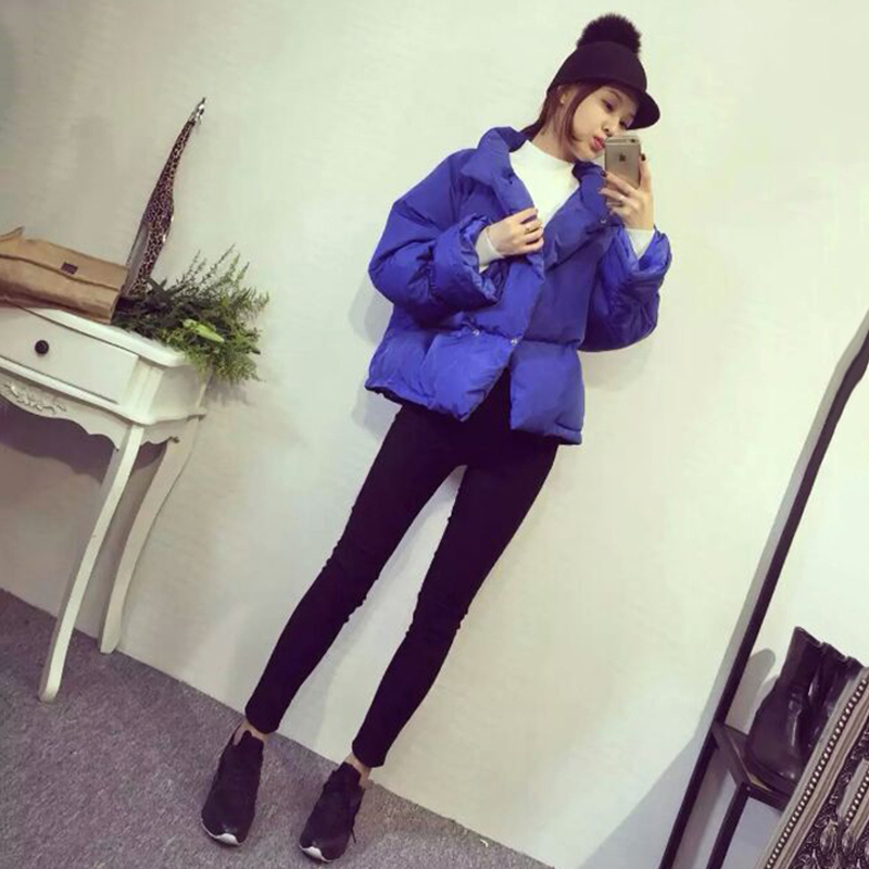 2017 New Winter Coat Female Korean Short Harajuku Student Bf Coat Loose Small Cotton Padded Jacket All-match Jacket