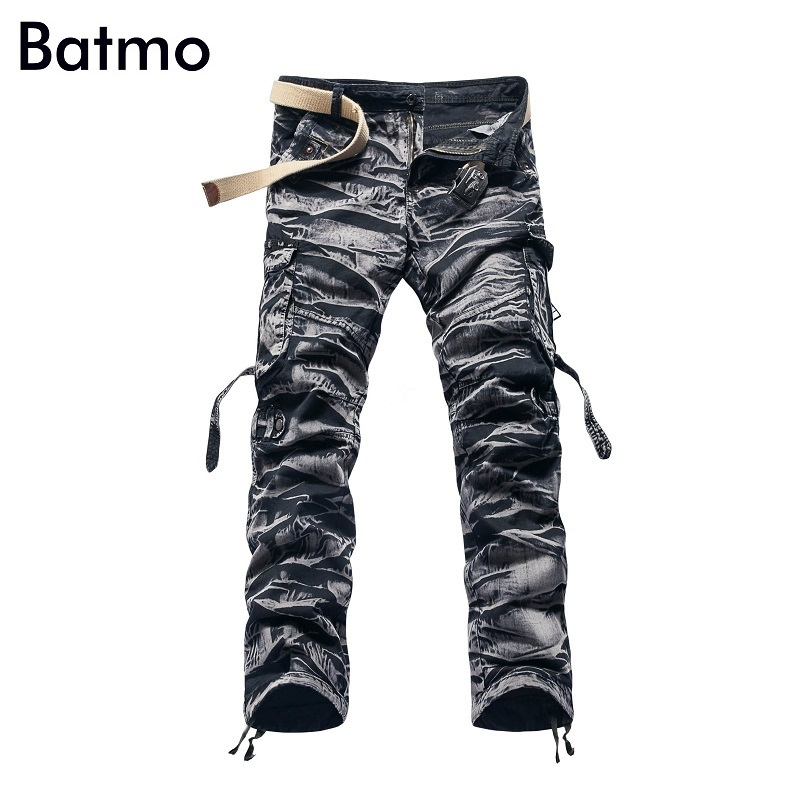 2017 Summer overalls male trousers multi pocket male loose Camouflage casual casual straight Cargo Pants Work