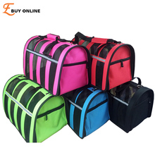 New 2015 hot portable dog bag for small dogs Mesh Breathable pet carrier bag carry for cats Five colors Retail Free shipping!