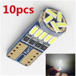 Ampoules de voiture, anti-brouillard, 10 pièces, ampoule de voiture T10 Led 194 T10 Led Canbus t10 15 SMD 4014 LED