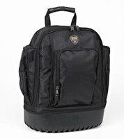 Large Size Multifunctional Waterproof Electrician Large Capacity Backpack Tool Bag Black