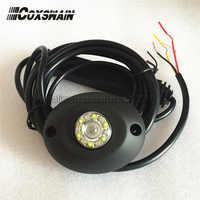 L306-12 Dual color LED Hide away warning light,  TIR-12 1W LED headlight, 100% Waterproof, 25 flash patterns, interior light