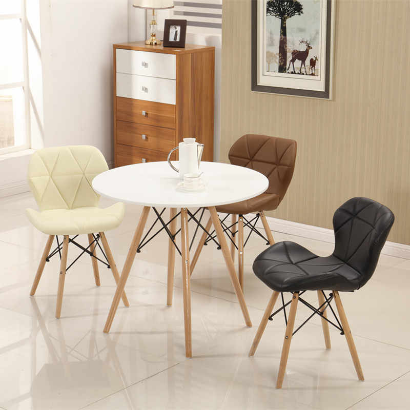 U-BEST Nordic design home goods white coffee table cafe table, wood plastic small apartment table